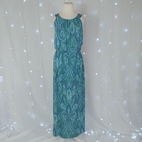 Enfocus Studio Dresses & Skirts - Enfocus Studio Blue & Green Maxi Dress